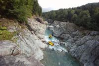 Rafting på Sesia Floden