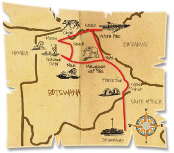 16 dage botswana