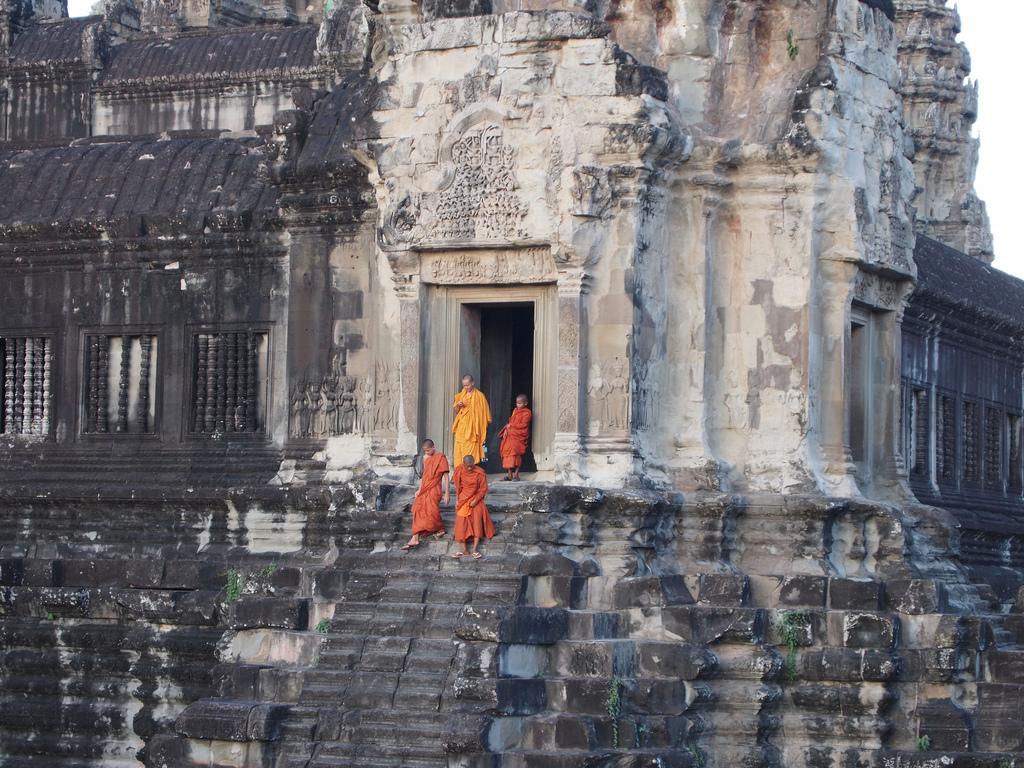 Munke ved Angkor Wat