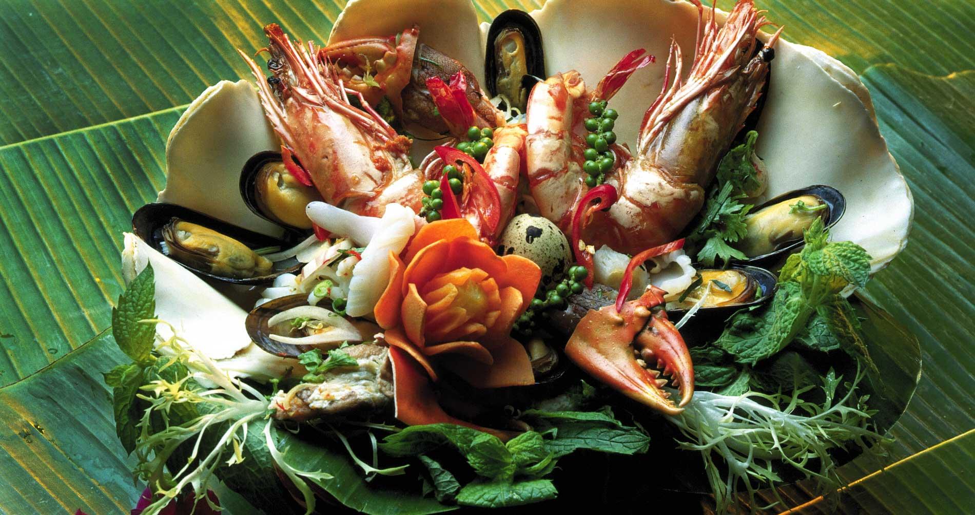 Lækker frisk lokal seafood