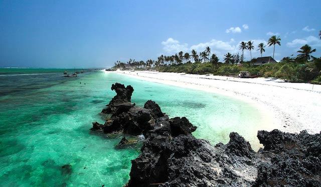 Slap af under palmernes skygge på den smukke rolige Matemwe Beach.