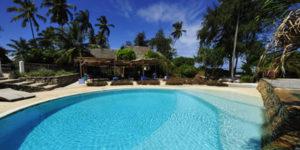 Dejlige Matemwe Beach Village ligger lige ud til stranden.