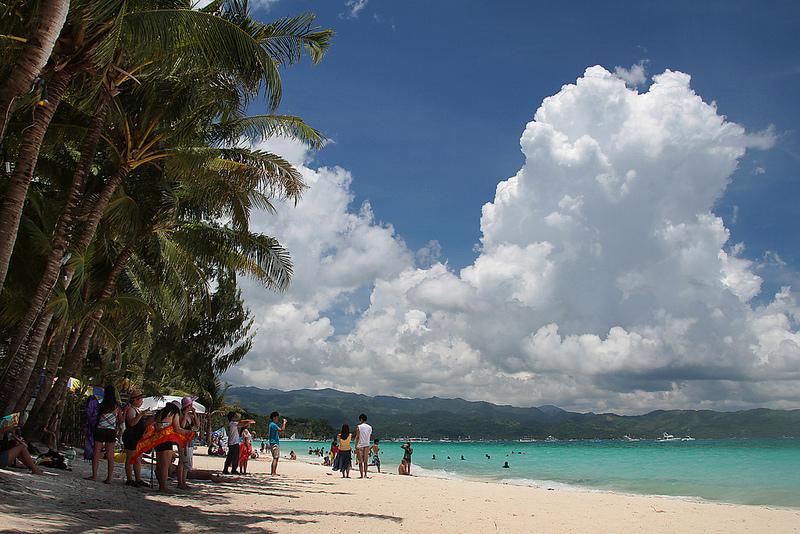 White Sand Beach på Boracay