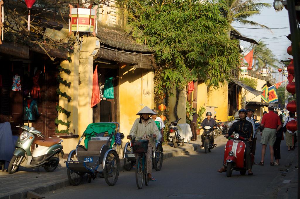 Typisk gadebillede i Hoi An