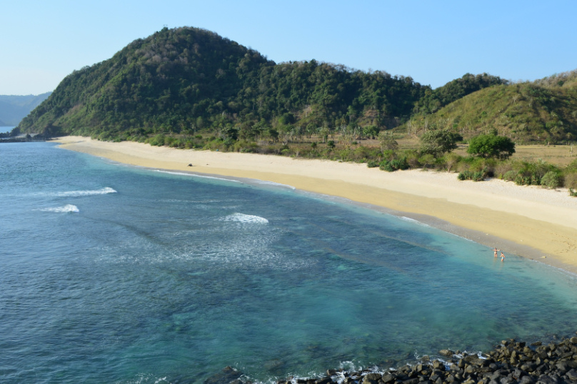 Strand på Lombok